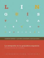 La excepción en la gramática española