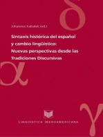 Sintaxis histórica del español y cambio lingüístico