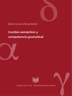 Cambio semántico y competencia gramatical