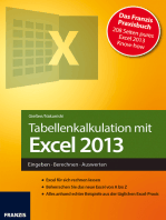 Tabellenkalkulation mit Excel 2013
