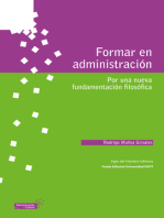 Formar en administración: Por una nueva fundamentación filosófica