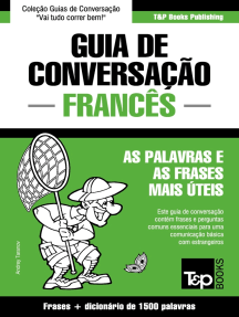 Guia de Conversação Português-Francês e dicionário conciso 1500 palavras