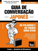 Guia de Conversação Português-Japonês e mini dicionário 250 palavras