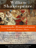 Gesammelte Historiendramen / Collected History Plays - Zweisprachige Ausgabe (Deutsch-Englisch) / Bilingual edition (German-English)