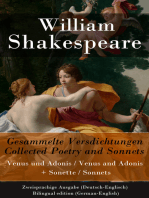 Gesammelte Versdichtungen / Collected Poetry and Sonnets - Zweisprachige Ausgabe (Deutsch-Englisch) / Bilingual edition (German-English)