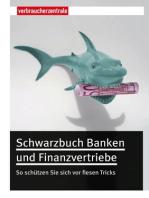 Schwarzbuch Banken und Finanzvertriebe