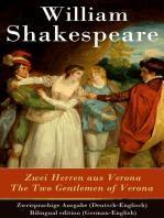 Zwei Herren aus Verona / The Two Gentlemen of Verona - Zweisprachige Ausgabe (Deutsch-Englisch) / Bilingual edition (German-English)