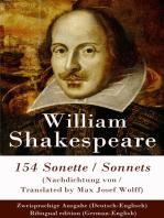 154 Sonette (Nachdichtung von / Translated by Max Josef Wolff) / Sonnets - Zweisprachige Ausgabe (Deutsch-Englisch) / Bilingual edition (German-English)