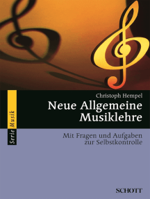 Neue Allgemeine Musiklehre: Mit Fragen und Aufgaben zur Selbstkontrolle