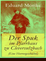 Der Spuk im Pfarrhaus zu Cleversulzbach (Eine Horrorgeschichte)