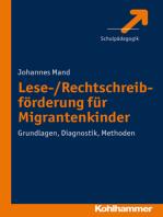 Lese-/Rechtschreibförderung für Migrantenkinder