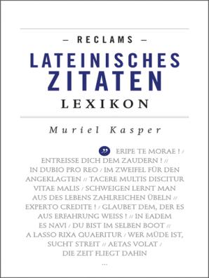 Reclams Lateinisches Zitaten Lexikon Book Read Online