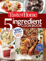 Taste of Home 5-Ingredient Cookbook