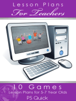 10 Games Lesson Plans for 5-7 Year Olds