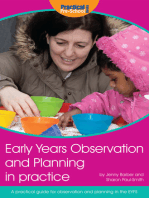 Early Years Observation and Planning in Practice: A Practical Guide for Observation and Planning in the EYFS
