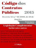 Código dos Contratos Públicos (CCP) - 2015 (Direito)