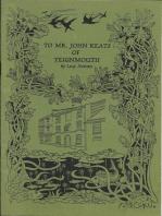 To Mr. John Keats of Teignmouth