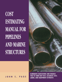 Cost Estimating Manual for Pipelines and Marine Structures: New Printing 1999
