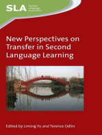 New Perspectives on Transfer in Second Language Learning