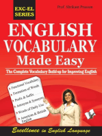 English Vocabulary Made Easy: the complete vocabulary build up for improving english