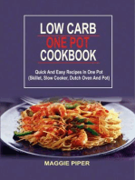 Low Carb One Pot Cookbook