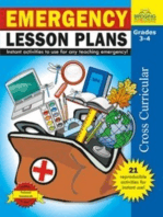 Emergency Lesson Plans - Grades 3-4
