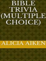 Bible Trivia (KJV) Multiple Choice