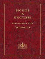 Sichos In English, Volume 25