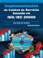 Implementación de Calidad de Servicio basado en ISO/IEC 20000