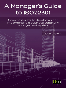 A Manager's Guide to ISO22301: A practical guide to developing and implementing a business continuity management system