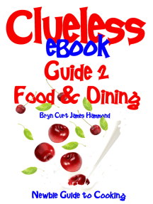 Clueless eBook Guide 2 Food & Dining