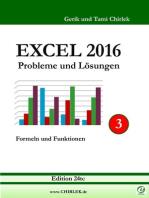Excel 2016 . Probleme und Lösungen . Band 3