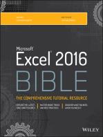 Excel 2016 Bible