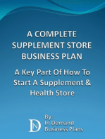 A Complete Supplement Store Business Plan
