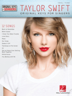 Taylor Swift - Original Keys for Singers