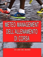Meteo management dell'allenamento di corsa