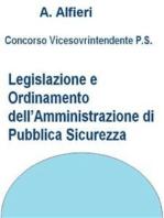 Concorso Polizia di Stato - Legislazione e ordinamento dell'Amministrazione di pubblica sicurezza