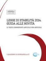 Legge di stabilita' 2014 - guida alle novita'