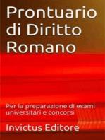 Prontuario di diritto romano