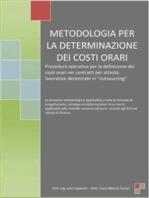 Metodologia per la determinazione dei costi orari