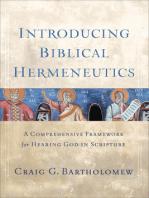 Introducing Biblical Hermeneutics