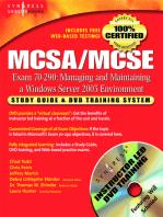 MCSA/MCSE Managing and Maintaining a Windows Server 2003 Environment (Exam 70-290): Study Guide & DVD Training System