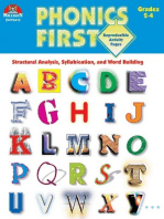 Phonics First - Grades 2-4: Structural Analysis, Syllabication, and Word Building