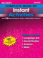 Milliken's Complete Book of Instant Activities - Grade 1