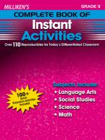 Milliken's Complete Book of Instant Activities - Grade 3