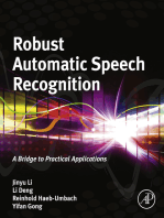 Robust Automatic Speech Recognition