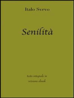 Senilità di Italo Svevo in ebook