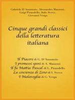 Cinque grandi classici della letteratura italiana