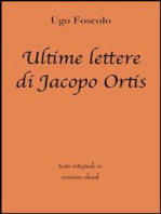 Ultime lettere di Jacopo Ortis di Ugo Foscolo in ebook