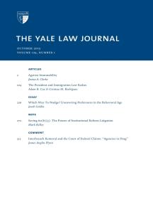 Yale Law Journal: Volume 125, Number 1 - October 2015